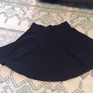 Black cloth skater skirt